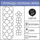 Яскрава гірлянда / арка / колона